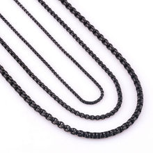 Customize Length 2/3/4/mm Width Stainless Steel Black Curb Cuban Chain Necklace For Men and Women Waterproof Jewelry Wholesale(China)