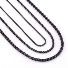Customize Length 2/3/4/mm Width Stainless Steel Black Curb Cuban Chain Necklace For Men and Women Waterproof Jewelry Wholesale