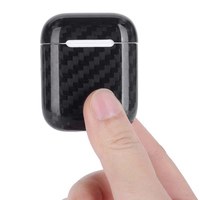 Real Carbon Fiber Cover for Apple AirPods Case Accessories Luxury Thin Shockproof Hard Carbon Fiber Pattern Earphone Case