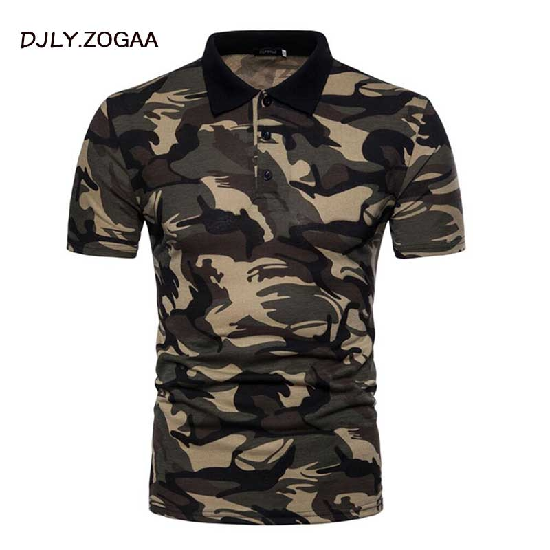 ZOGAA Mens Polo Shirt Brands 2018 Camouflage Polo Male Long Sleeve Casual Slim Military Polos Men Polo Shirt XXL Collar Shirt