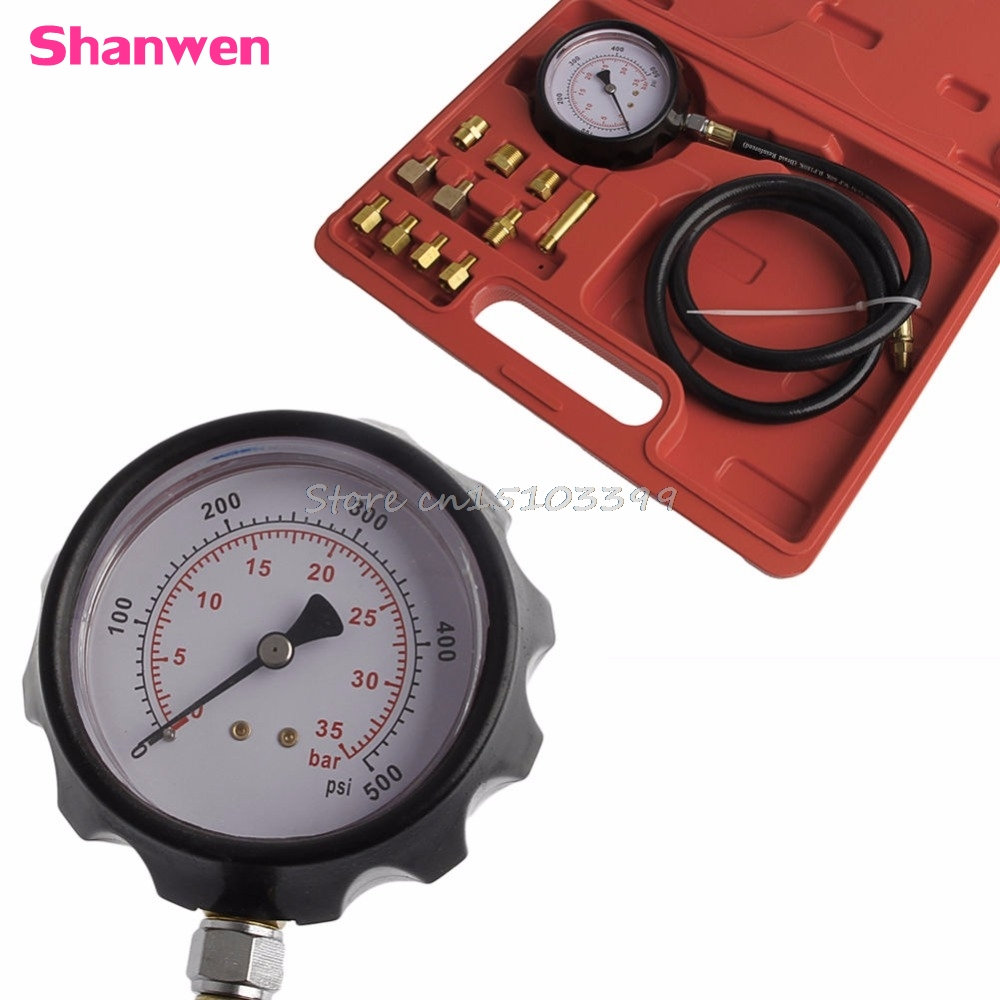 Car Wave Box Cylinder Pressure Meter Oil Pressure Tester Gauge Test Tools w/case G08 Drop ship