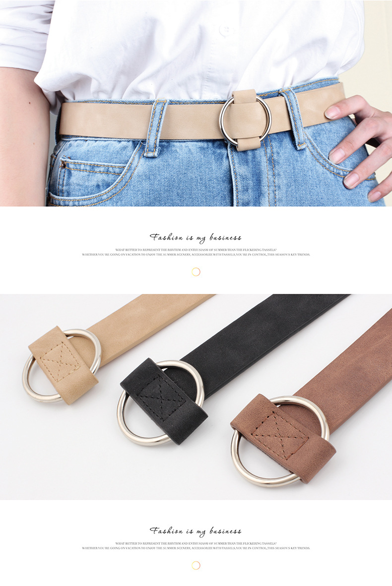 HTB1Ppa5LVzqK1RjSZSgq6ApAVXaQ - Women leather belt Newest Round buckle belts female leisure jeans wild without pin metal buckle Women strap belt