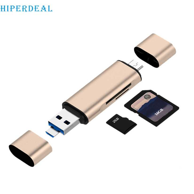 HIPERDEAL кард-ридер для iPhone iPad USB 2,0 OTG мини смарт-ридер карт памяти Micro SD TF адаптер для IOS Android # T
