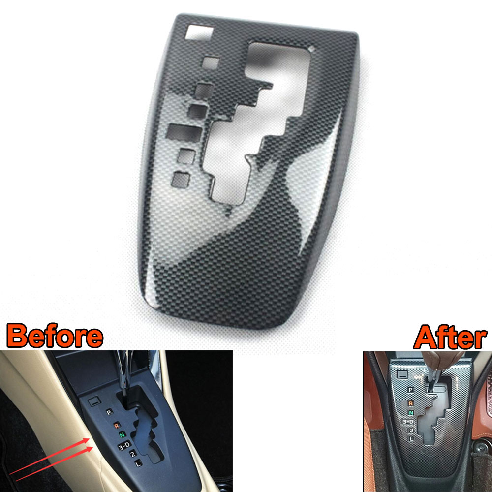 ABS Chrome Console Center Gear Cover Shifter Panel Trim Frame Cover Molding Garnish Accessories Fits For Toyota Yaris 2014 2014 2016 chrome gate trim for toyota yaris chrome front grill cover tail gate trim for toyota yaris grille sedan part ycsunz