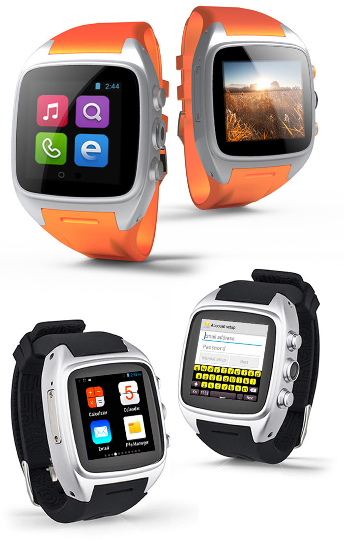 ФОТО Waterproof X01 Smart Watch 3G Wifi GPS SIM Card for Android System MTK 6572 Dual Core Sim Card Camera Smartwatch