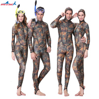 Dive Sail UPF50 Camouflage Snorkeling Dive Skin Adult Rash Guards One Piece With Hood Jump