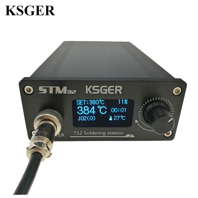 KSGER OLED Soldering Station FX9501 T12 Electric Iron Tools STM32 2.1S Temperature Controller Handle Holder Welding T12 ILS