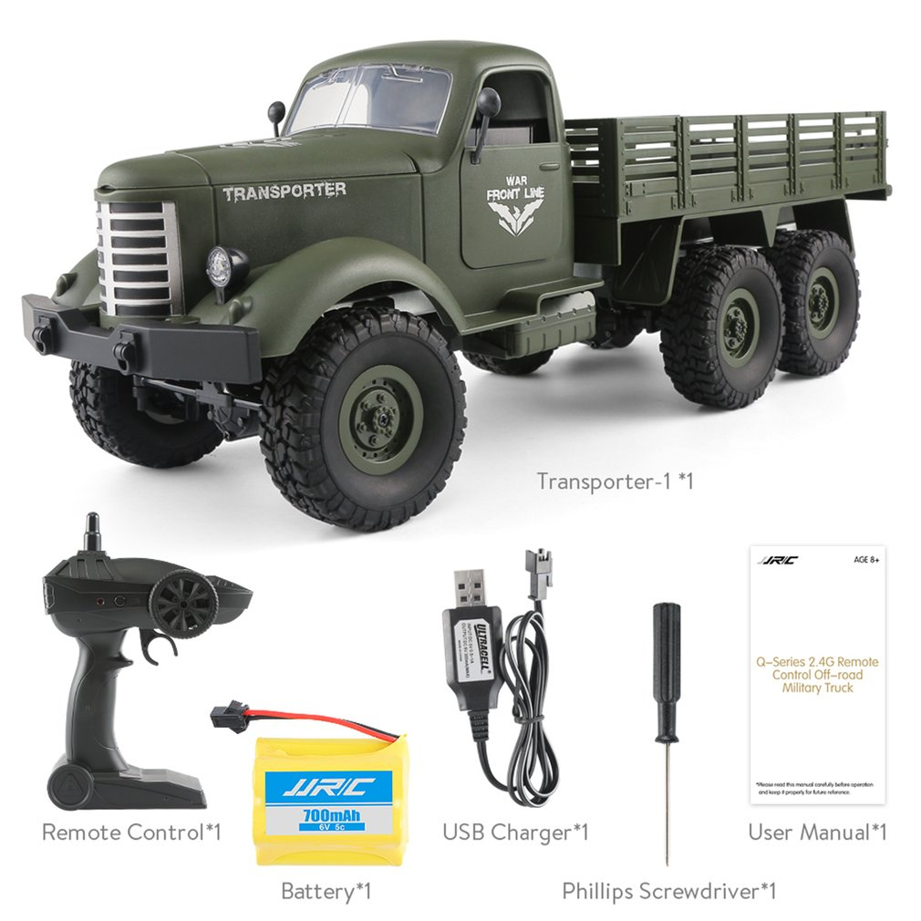 Home Appliance Parts Original 2.4g Rc 1:16 Machine Remote Control 6/4 Wheel Drive Tracked Off-road Military Rc Electric Toy For Children Convenience Goods