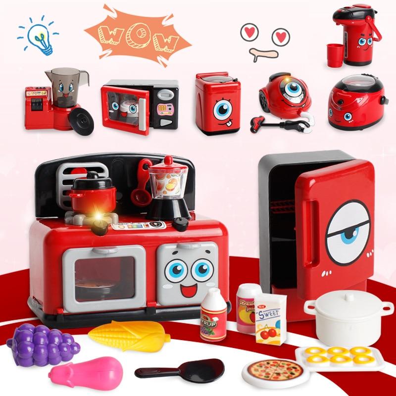 Mini Kitchen Toy: Mini Kitchen Toys Plastic Simulation Home Appliances Kids