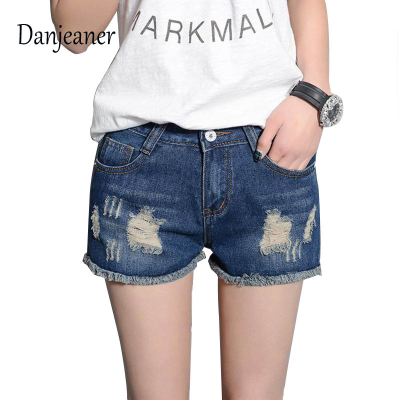 Danjeaner 2019 New Hot Women's Jeans High Waist Retro Denim Shorts Slim Jeans Feminino Brand Spring Autumn Plus Size