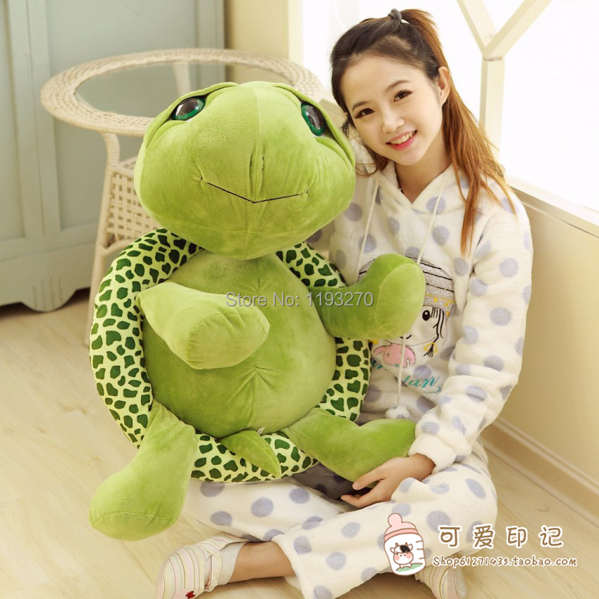 80 cm plush turtle toy big eyes tortoise lovely doll throw pillow birthday gift Christmas gift w5821 lovely giant panda about 70cm plush toy t shirt dress panda doll soft throw pillow christmas birthday gift x023