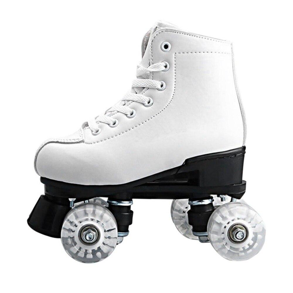 Basecamp Double Roller Quad Deux Ligne Patins à roulettes 4 Roues à lacets Chaussures de Skate avec Lumière LED Colorée livraison Gratuite