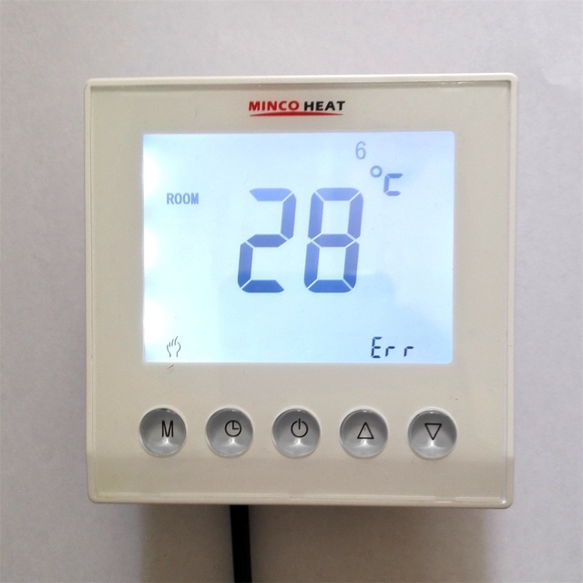digitale heizung thermostat mit w chentliche programmierung raumboden temperaturregler lcd. Black Bedroom Furniture Sets. Home Design Ideas