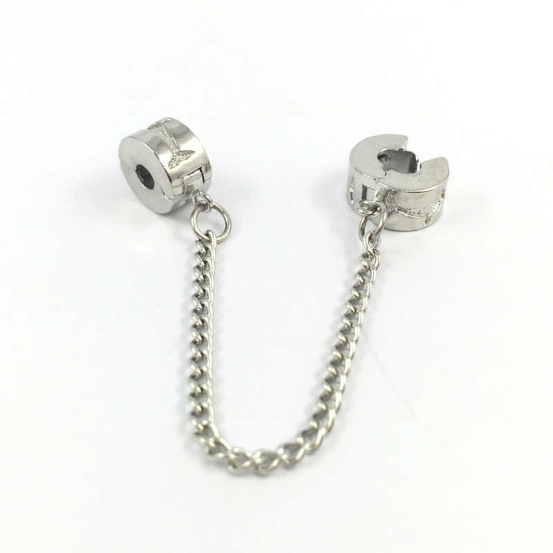 cadd2a128 ... Dolphins Safety Chain Beads Clips Locks Stoppes Bead Charms Fit Pandora  Bracelets & Bangles Necklace DIY