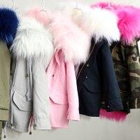 Dosoma ceket kız erkek kış kalınlaşmak sıcak faux tilki kürk yumuşak astar çocuklar kapşonlu ceketler moda çocuk parkas outerwears