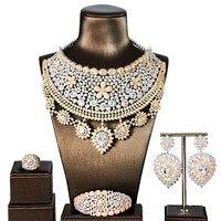 GO6 циркониевые комплекты ювелирных изделий свадебные аксессуары свадебные комплекты ювелирных изделий женское ожерелье циркониевый камен