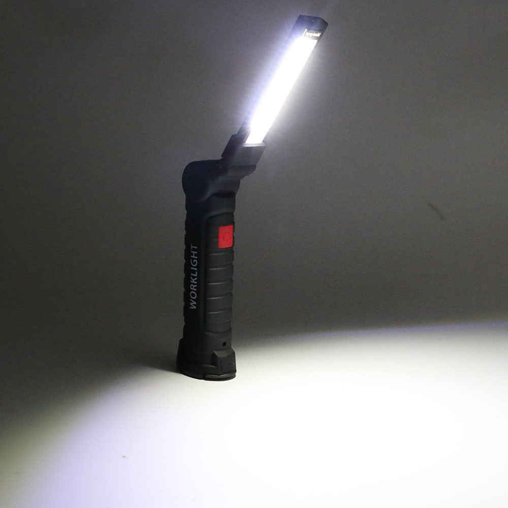 LED COB Rechargeable Magnetic Torch Flexible Inspection Lamp Cordless Work Light  Emergency Lmp
