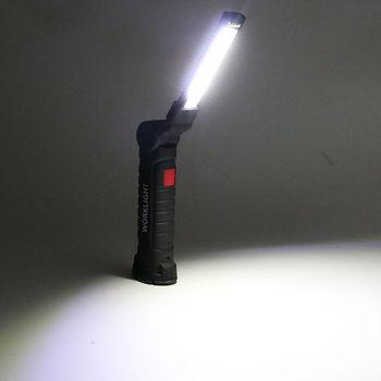COB LED Torcia Della Torcia Elettrica Ricaricabile USB HA CONDOTTO LA Luce del Lavoro Magnetico COB Lanterna Gancio Appeso Lampada Per Il Campeggio Esterno