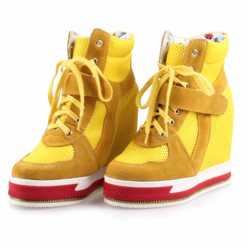 2017 new comfortable mesh net breathable women casual shoes platform elevator high top wedges female boots height increasing free shipping 2017 summer style women casual shoes women s swing shoes breathable gauze platform shoes single elevator shoes