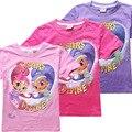 Brillo y resplandor choese bobo de dibujos animados de verano tops ropa camisetas niños camisetas de algodón para niños niñas bebes sueño desire