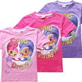 Shimmer and Shine bobo choese Summer Cartoon tops tees Children clothes Cotton t-shirts for Kids girls bebes dream desire