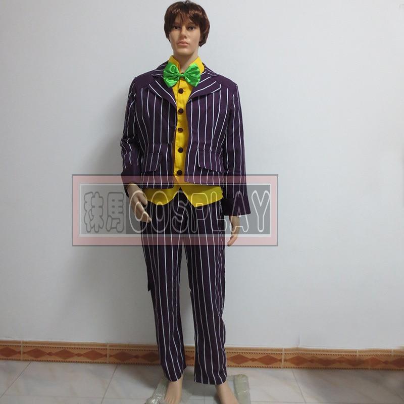 Batman font b cosplay b font costume Arkham Asylum font b Joker b font font b