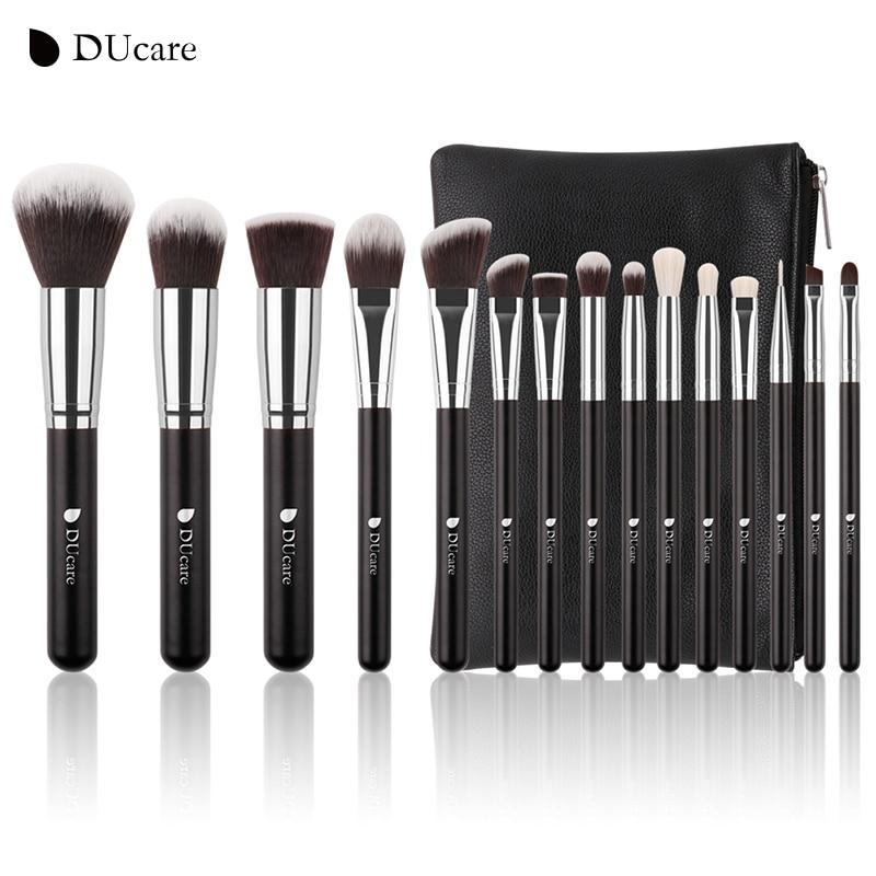DUcare Brand 15 PCS Makeup Brush Set Professional Make Up Beauty Blush Foundation Contour Powder Cosmetics Brush Makeup