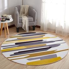 Круглый ковер, коврик для двери, современные ковры для гостиной, ковер для спальни, Противоскользящий коврик для пола, домашний текстиль