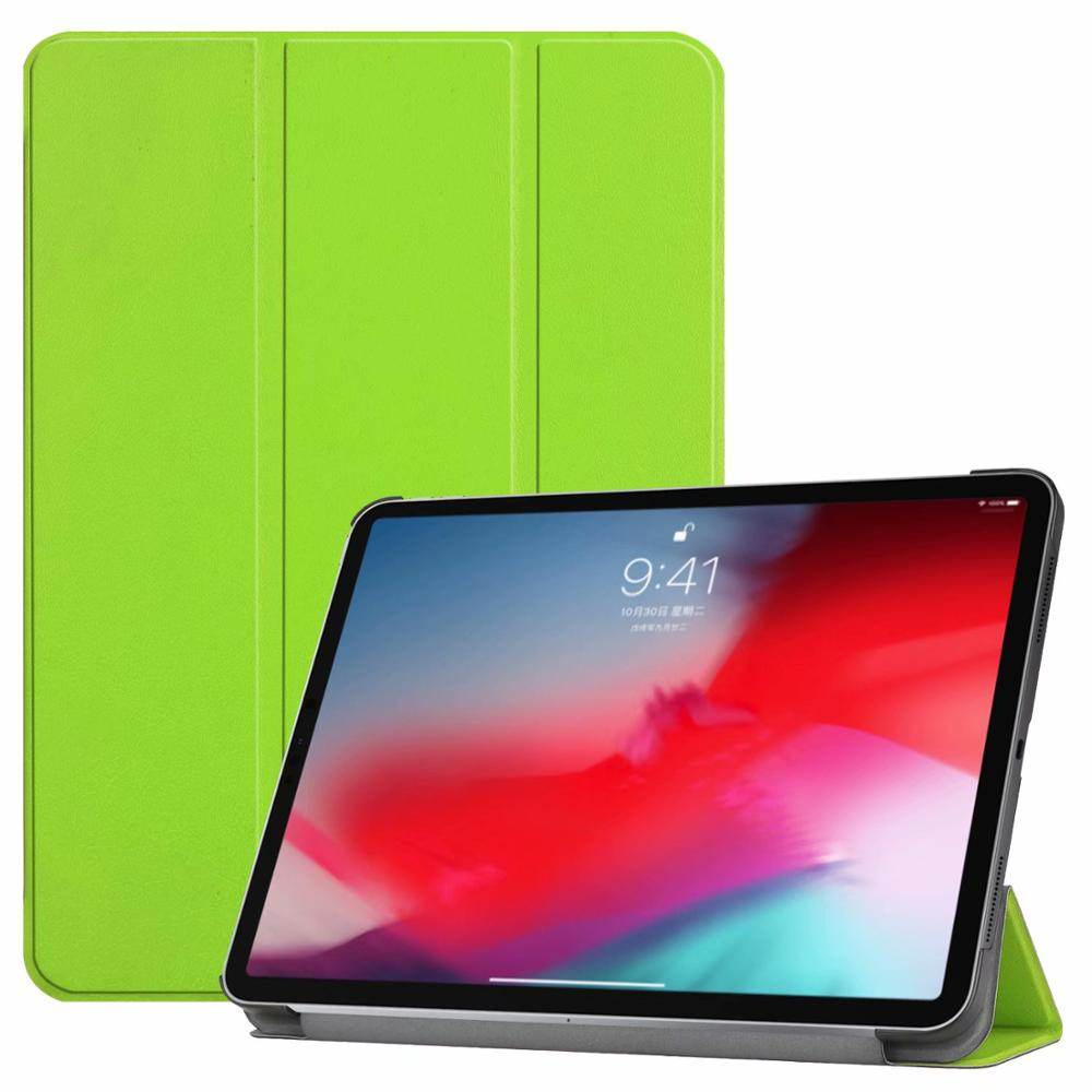 Green iPad Pro3 11 2018 smart case with different patterns