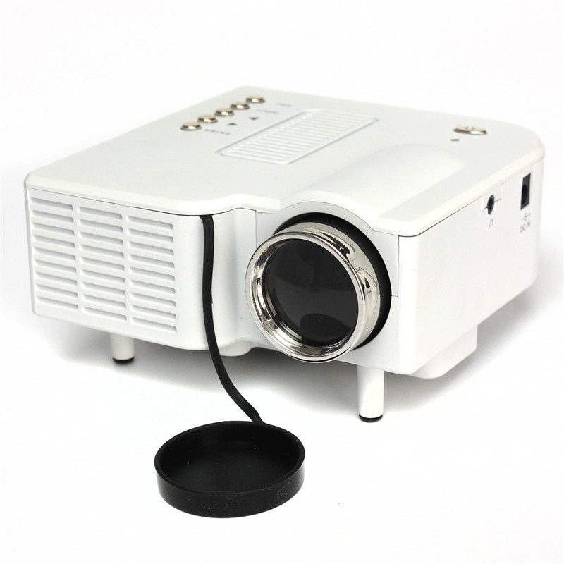 ФОТО New Arrival UG28 320*240dpi LCD LED Mini Home Cinema Portable Projector HDMI VGA AV USB SD Supported resolution 1024*768 white
