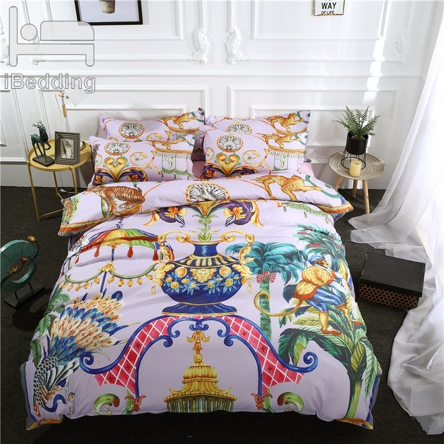 3Pcs/Set Animal Palace Printed Duvet Cover Set 3D Bedding Sets Queen King Twin Size
