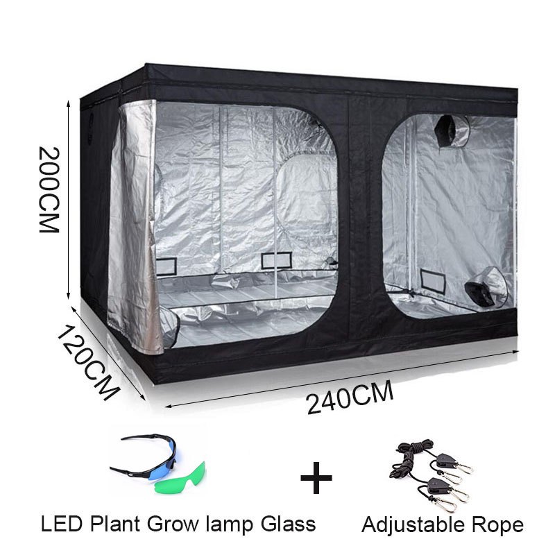 BEYLSION Hydroponic Plant Tent Growing Box Light Tent 240 120 200CM For Indoor Garden Greenhouse Room