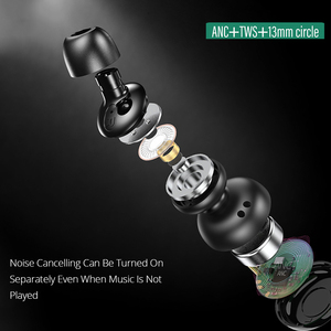 Image 4 - Bonola ANC Wireless Bluetooth Earphone Stereo Active Noise Canceling Earbuds TWS Touch Key Bluetooth 5.0 Earphones For Huawei