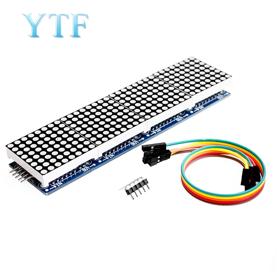 MAX7219 Dot Matrix Module Control Microcontroller Module 4-in-1 Display Send 5P Line (H6A4)