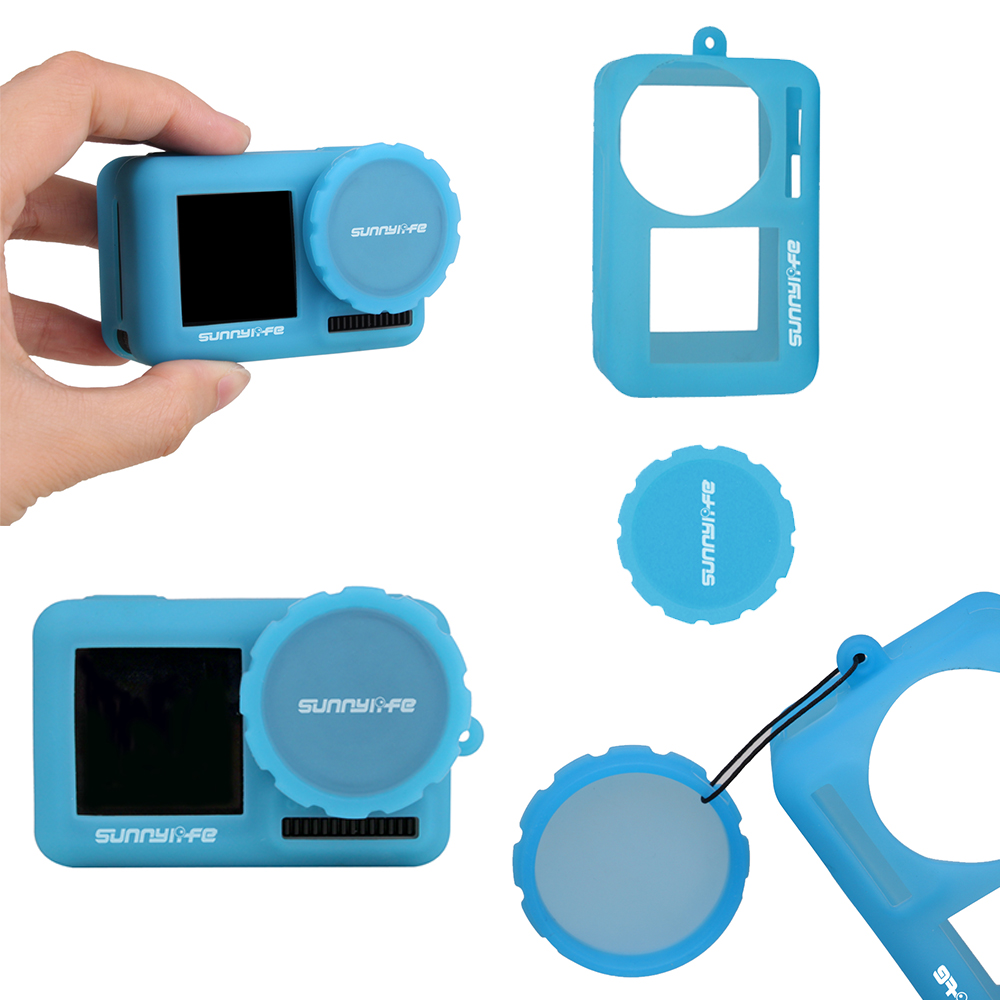 Color : White Blue Non-Slip Dust-Proof Cover Silicone Sleeve for DJI OSMO Pocket Durable