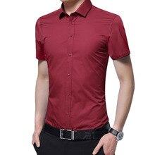 2019 Brand New Formal Shirt Men Short Sleeve Shirt