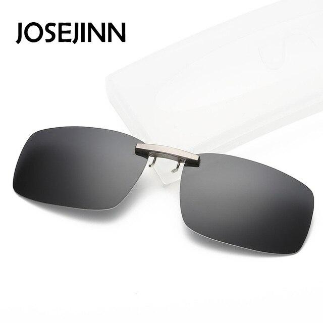 Classic Square rimless polarized clip on sunglasses men women driving  fishing Myopia Clip eyeglasses 0ff686fa7f