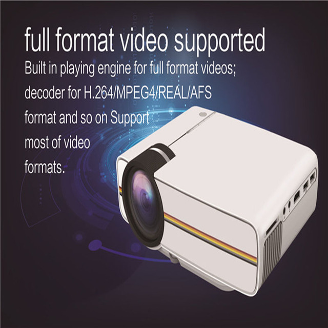 YG400 LED Mini Projector For Video Games TV Beamer Project Home Theatre Movie AC3 HDMI VGA AV SD USB Support MP4,RMVB,AVI,RM,MKV