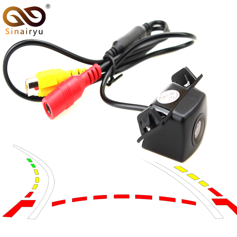 Sinairyu 2019 Car Dynamic Trajectory Reverse Backup Rear View Camera For Toyota Camry Prius Vehicle Tracks Line Parking Camera