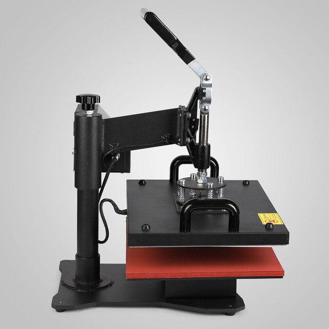 Máquina de pressão de calor vevor 5 em 1, camisetas, impressora de transferência para camiseta, caneca