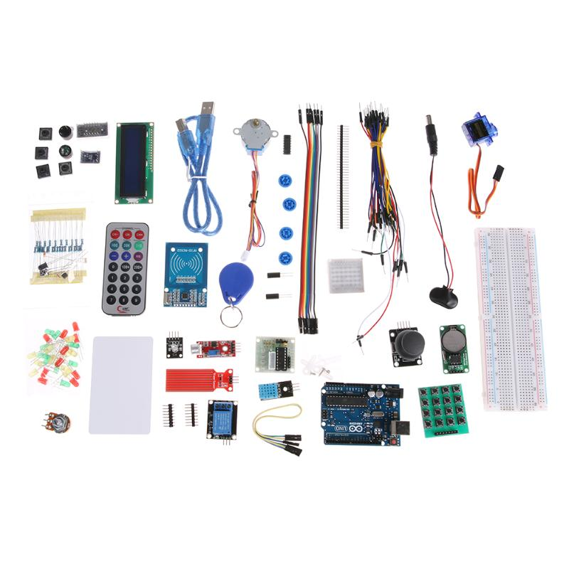 Upgraded RFID Starter Electronic DIY Learning Suite for Arduino UNO R3 Version Learning Kit Electronic Parts Set 2017 rfid starter kit for arduino for uno r3 upgraded advened version learning suite without retail box