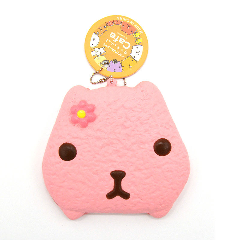 Squishy Tag List : 10CM Jumbo Squishy Kapibarasan Biscuit Collectibles Cream Scented Soft Bread With Tag Toy 1PCS ...