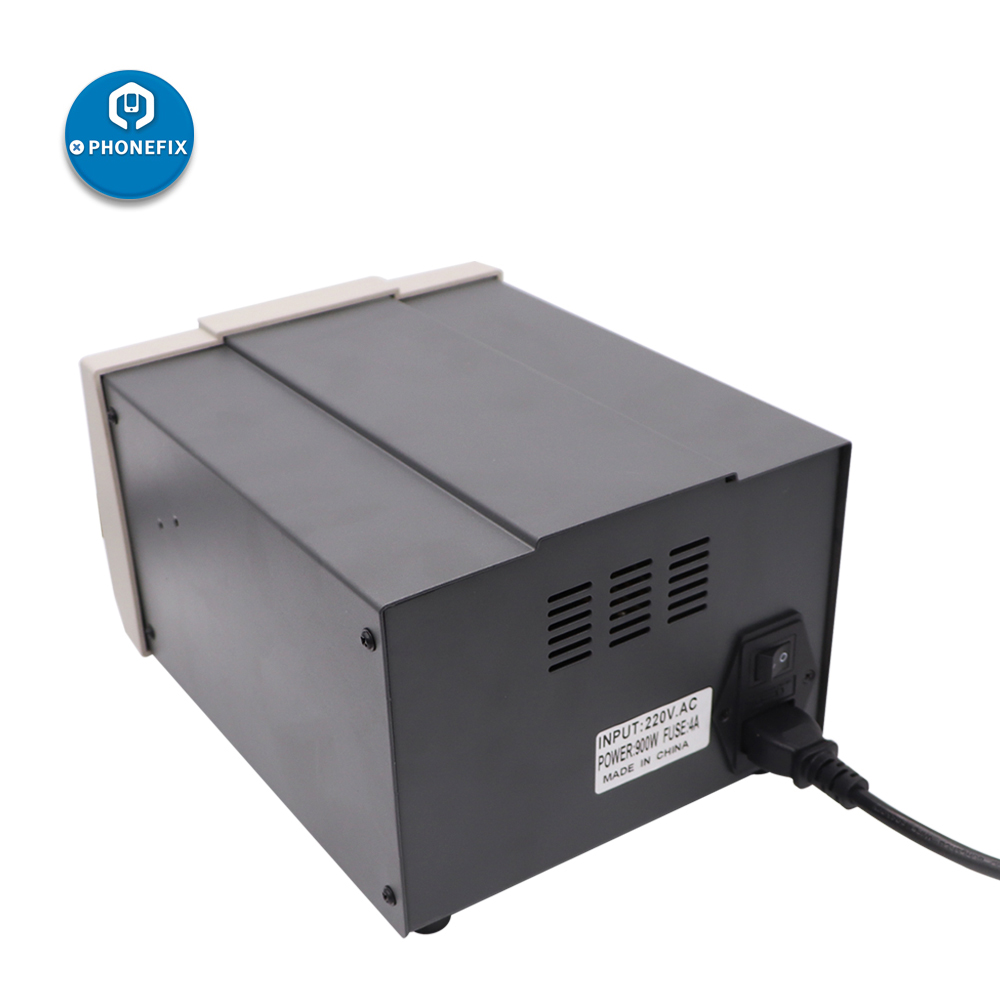 Tools : PHONEFIX 900W Digital Rework Station 861DW Digital Soldering Rework Station Hot Air Heat Gun Station with 3 Nozzles