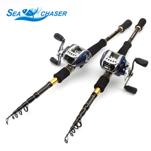 1.8M 2.1M 2.4M 2.7M Casting Rod and Reels Set carbon lure fishing pole telescopic Trout rod lure 7g-28g M power fishing fish