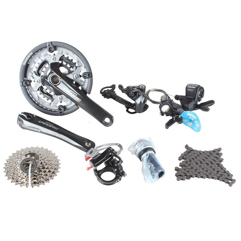 SHIMANO <font><b>DEORE</b></font> <font><b>M590</b></font> Groupset Derailleurs for MTB Mountain Bike speed of 27S 3x9S Bicycle Racing and Training Parts image
