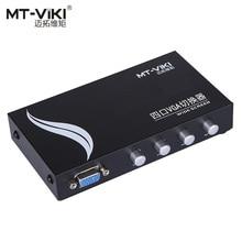 MT-VIKI VGA Video Switch Box D-sub Switcher Selector 4 input Port 1 output 4 PCs share 1 monitor MT-15-4C