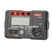цена на 2500V Digital Insulation Resistance Meter Tester Megohmmeter Highly Voltmeter Continuity Tester w/LCD Backlight UNI-T UT502A