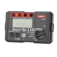 UNI T UT502A 2500V Insulation Resistance Testers Megohmmeter Voltmeter Continuity Tester megger w/LCD Backlight Diagnostic tools