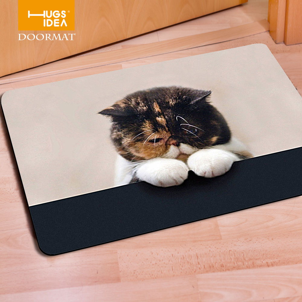 Funny bathroom rugs - Cute Kitty Cat Pugs Puppies Kawaii Living Room Carpets Bathroom Rugs Anti Slip Thin Mats Funny Animal Stylish Square Door Mat In Carpet From Home Garden