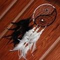 Dream catcher home decor white and black feather dreamcatcher taiji china style religious mascot car wall decoration ornament